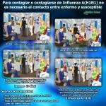 Propagación de la Influenza A (H1N1)
