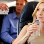 Hidratación a bordo del avión